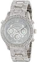 Akribos XXIV Women's Swiss Quartz Watch with Silver Dial Analogue Display and Silver Alloy Bracelet AK776SS