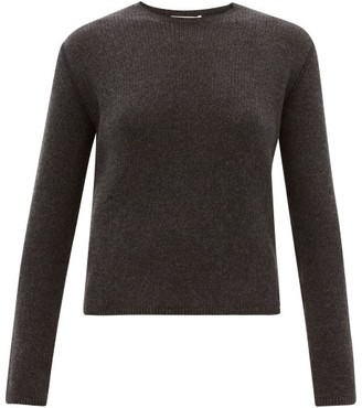 The Row Imani Round-neck Cashmere Sweater - Womens - Dark Grey