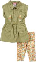 Nannette Green & Yellow Tunic & Leggings - Toddler