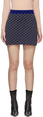 Stella McCartney Navy Monogram Miniskirt