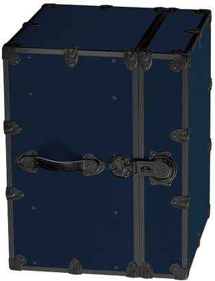 Pottery Barn Teen Canvas Dorm Trunk with Black Trim, Bedside, Navy