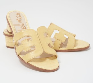 Sam Edelman Leather Heeled Slide Sandals - Illie