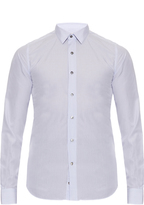 Valentino Micro pencil-striped long-sleeved cotton shirt