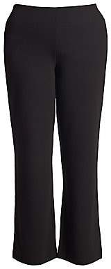 Joan Vass Joan Vass, Plus Size Women's Ponte Bootcut Pants