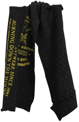 Raf Simons Grey Wool Scarves & pocket squares