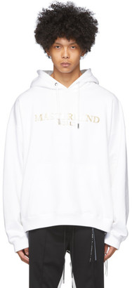 mastermind WORLD White Boxy Foiled Hoodie