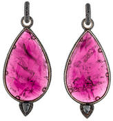 John Hardy Diamond & Tourmaline Earrings