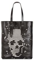 Alexander Mcqueen Studded Skull Leather Tote