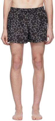 Dolce & Gabbana Black Allover Star Swim Shorts