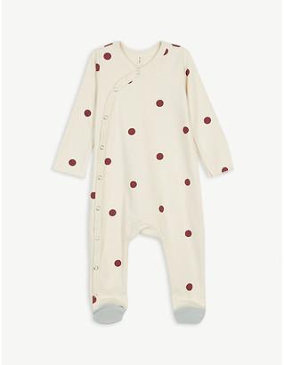Organic Zoo Polka dot organic cotton sleepsuit 0-12 months