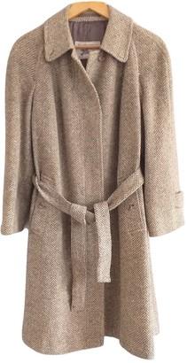 Burberry Grey Wool Coat for Women Vintage