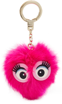 Kate Spade Monster Pouf Pig Key Fob