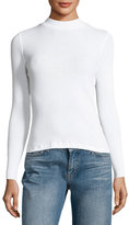 3x1 Mock-Neck Ribbed Cotton Top