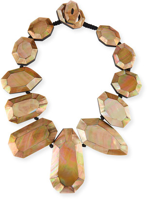 Viktoria Hayman Black-Lip Mother-of-Pearl Statement Necklace