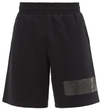 Givenchy Logo-patch Cotton-jersey Shorts - Black