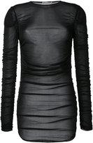 Emilio Pucci striped T-shirt - women - Cupro - 38