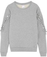 Iris and Ink Pat Ruffle-Trimmed Cotton-Jersey Sweatshirt
