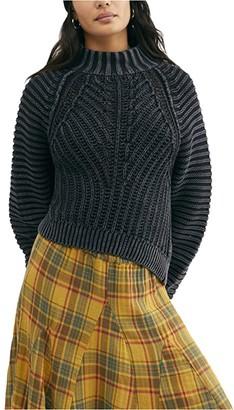 Free People Sweetheart Sweater (Black) Women's Clothing