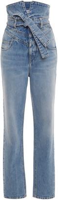 ATTICO Rigid High-Rise Straight-Leg Jean