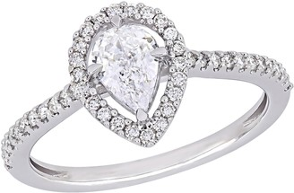 Affinity Diamond Jewelry Affinity 7/10 cttw Diamond Pear-Cut Ring, 14K