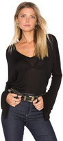 Michael Lauren Booker Bell Sleeve V Neck Top