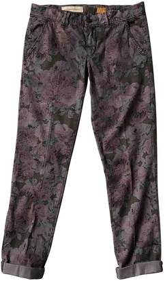 Anthropologie Multicolour Cotton Trousers for Women