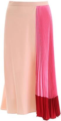 Marni Pleated Colour-Block Skirt