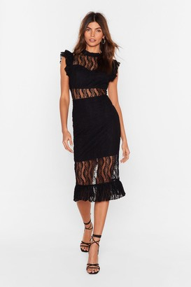 Nasty Gal Womens Heartache Tonight Lace Dress - Black - M, Black