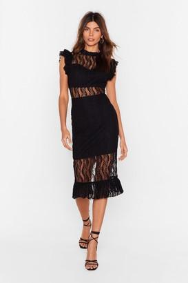 Nasty Gal Womens Heartache Tonight Lace Dress - Black - M, Black