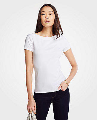 be8fb5f0d6 Ann Taylor White Petite Tops - ShopStyle