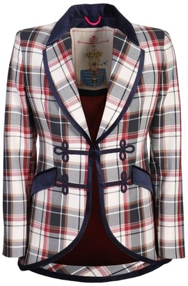 The Extreme Collection Checkered Blue Blazer Romellia