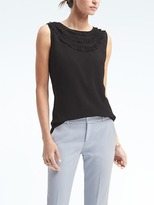 Banana Republic Easy Care Ruffle-Collar Top