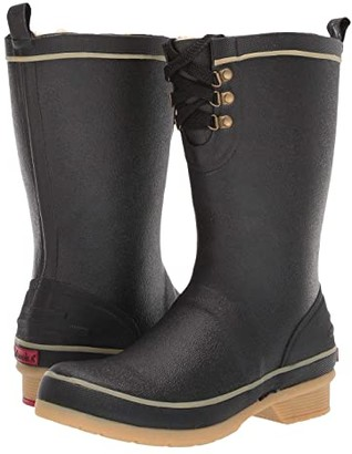 Chooka Whidbey Plush Rain Boot (Black) Women's Rain Boots