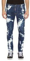 DSQUARED2 Twist Bleach Wash Skinny Jeans, Blue