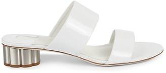 Salvatore Ferragamo Belluno Patent Leather Slides
