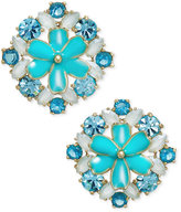 Kate Spade Gold-Tone Multi-Stone Flower Stud Earrings