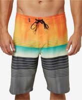 """O'Neill Men's Hyperfreak Heist Stripe 21"""" Board Shorts"""
