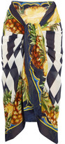 Dolce & Gabbana Printed Cotton-gauze Pareo - Yellow