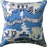 The Well Appointed House Chinoiserie Design Pillow in Blue