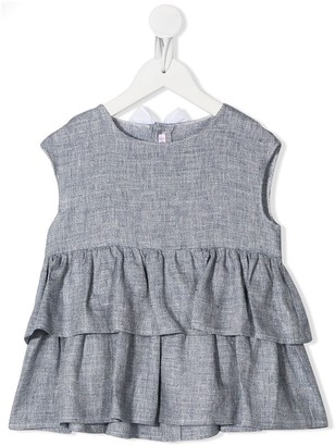 Il Gufo Ruffled Sleeveless Top