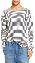 Vince Men's Raw Edge Stripe T-Shirt