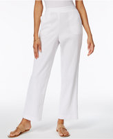 Alfred Dunner Cable Beach Pull-On Wide-Leg Pants