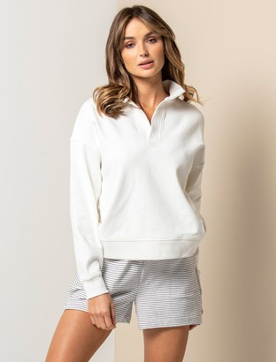 Forever New Olympia Collar Loungewear Jumper - Porcelain - l