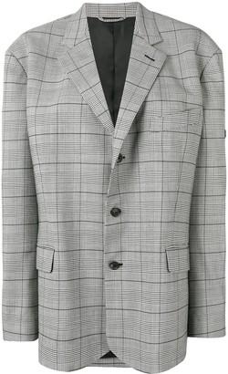 Balenciaga Checked Single Breasted Jacket