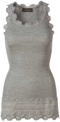 Rosemunde 5315 Silk Blend Benita Vest Top Light Grey Melange - X Small