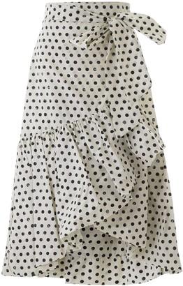 Pinko Polka-Dot Wrap Midi Skirt