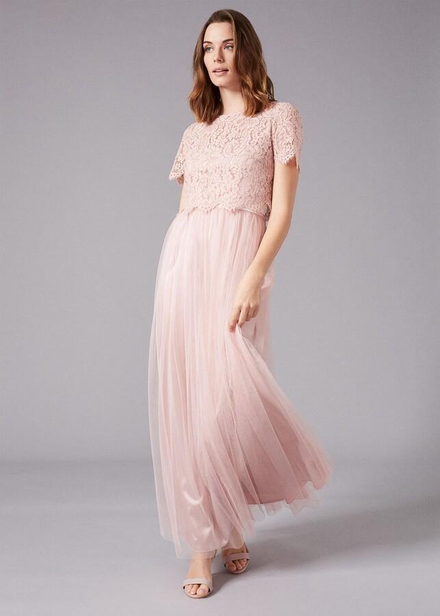 Phase Eight Kiera Lace Tulle Maxi Dress