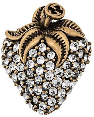 Gucci Crystal Strawberry Brooch
