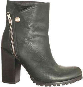 Opening Ceremony Green Leather Ankle boots