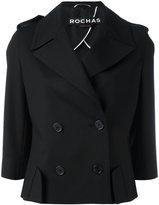 Rochas double breasted blazer - women - Silk/Cotton/Spandex/Elastane - 42